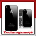 Vitre arrière sur chassis pour iPhone 4S noir.