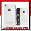 Vitre arrière sur chassis pour iPhone 4S blanc.