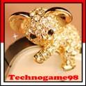 Bouchon anti poussière Koala cristal et or